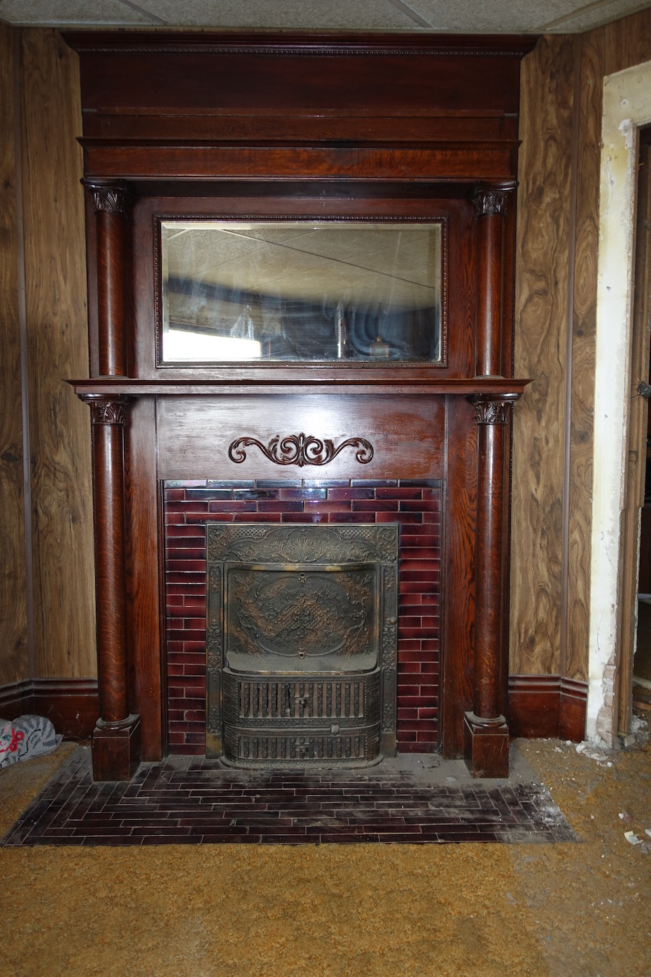 removing a fireplace mantel and tile surround architectural observer